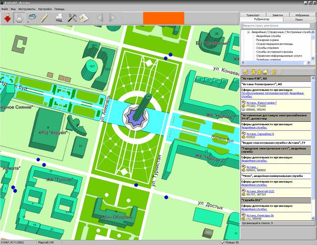 Функциональная схема зонирования поселка